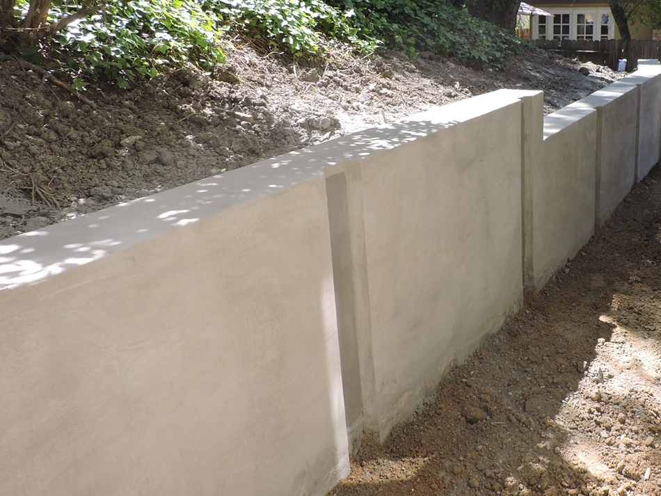 Soldier Pile and Concrete Panel Retaining Wall